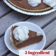 Easy Pie Recipe: 5 Ingredient Chocolate Truffle Pie Recipe