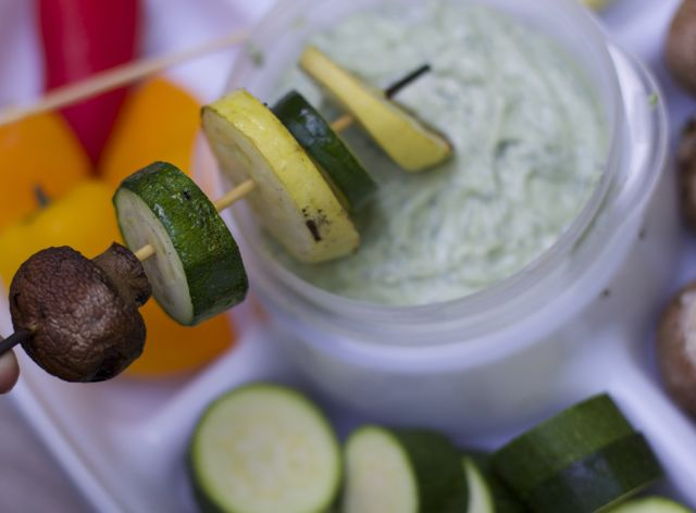 Stock up this summer with these outdoor entertaining supplies for white sangria and veggies and dip