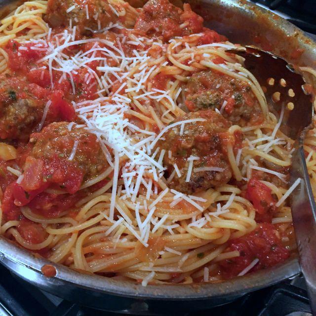 Grandma B's Italian Meatballs and Pasta Sauce