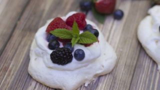 Pavlova with Mixed Berries