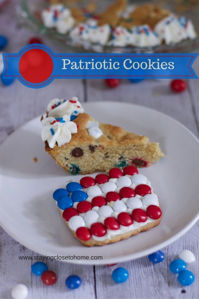 Be sure to be on the look out for M&M's® Red, White, & Blue Milk Chocolate, M&M's® Red, White, & Blue Peanut, and Skittles® Red, White, & Blue to make these patriotic cookie ideas