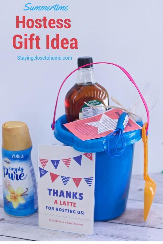Summer Hostess Gift Idea: Breakfast in a Sand Bucket