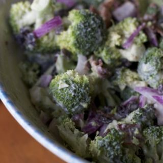 Reduced Fat Broccoli salad perfect summer side dish recipe