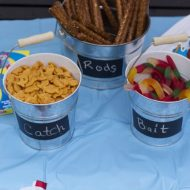 Fishing Birthday Party–Cupcakes and Party Favors