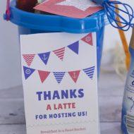 Summer Hostess Gift Ideas: Breakfast in a Sand Bucket