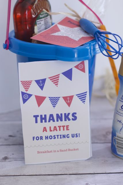 Summer Hostess Gift Ideas: Breakfast in a Sand Bucket