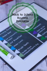 Making the transition Back To School easier with this back to Routine Check List printable