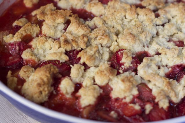 Serve this strawberry Rhubarb Cobbler recipe up with some ice cream or whipped cream for the ultimate summer strawberry Rhubarb Dessert.