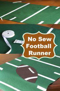 no sew football field table runner