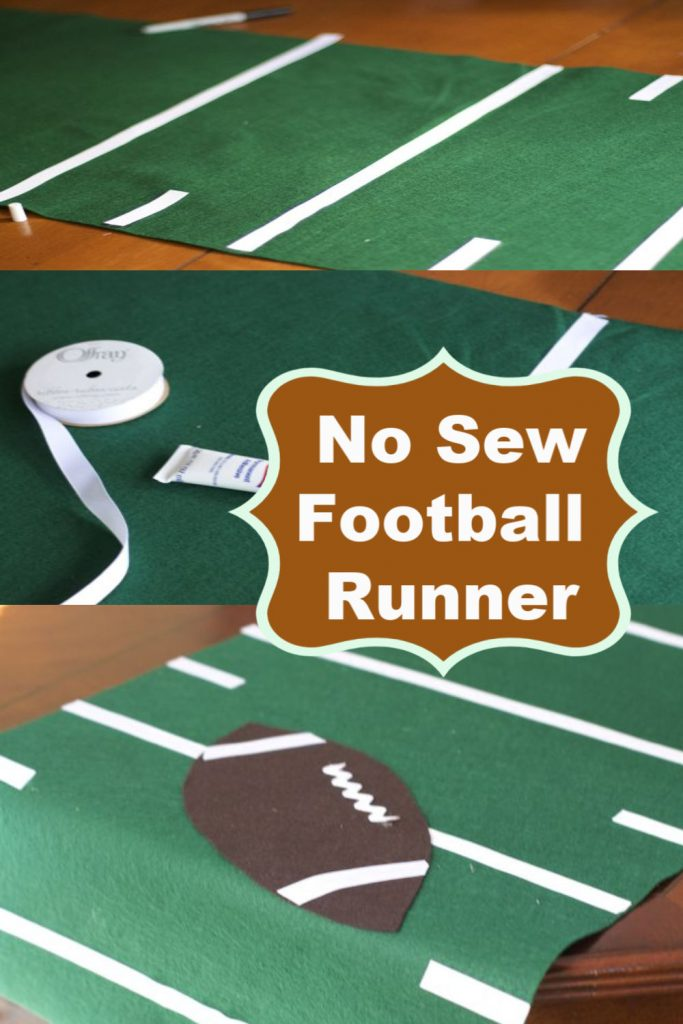 no sew football field table runner