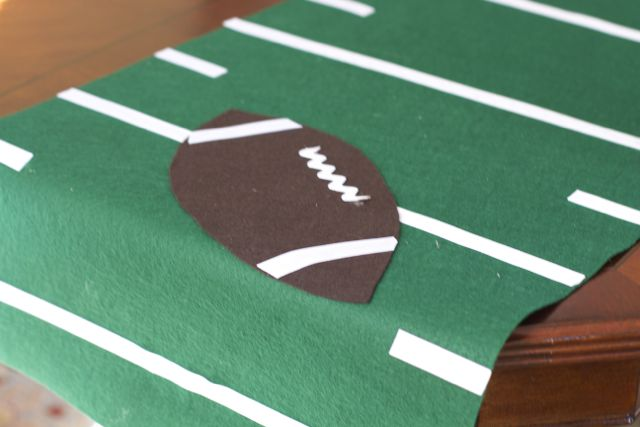 no sew football runner FB