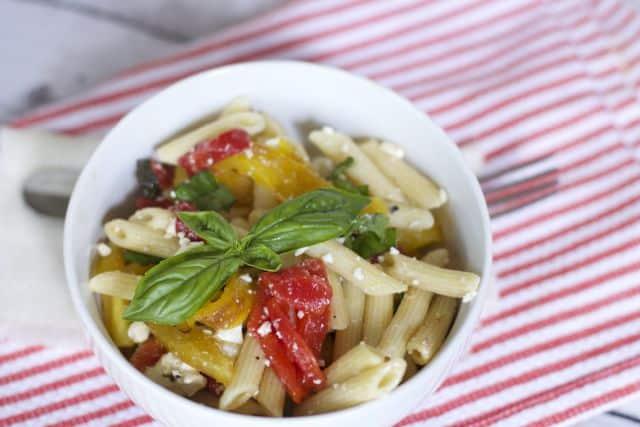 Mediterranean tricolor pepper pasta recipe
