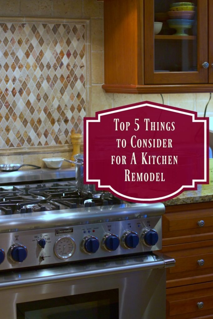 Top 5 things to consider for a kitchen remodel