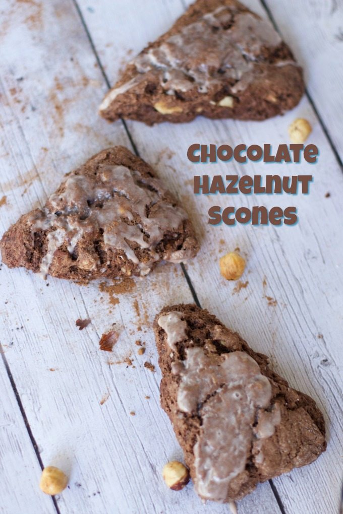 Triple Chocolate Hazelnut Scones Recipe