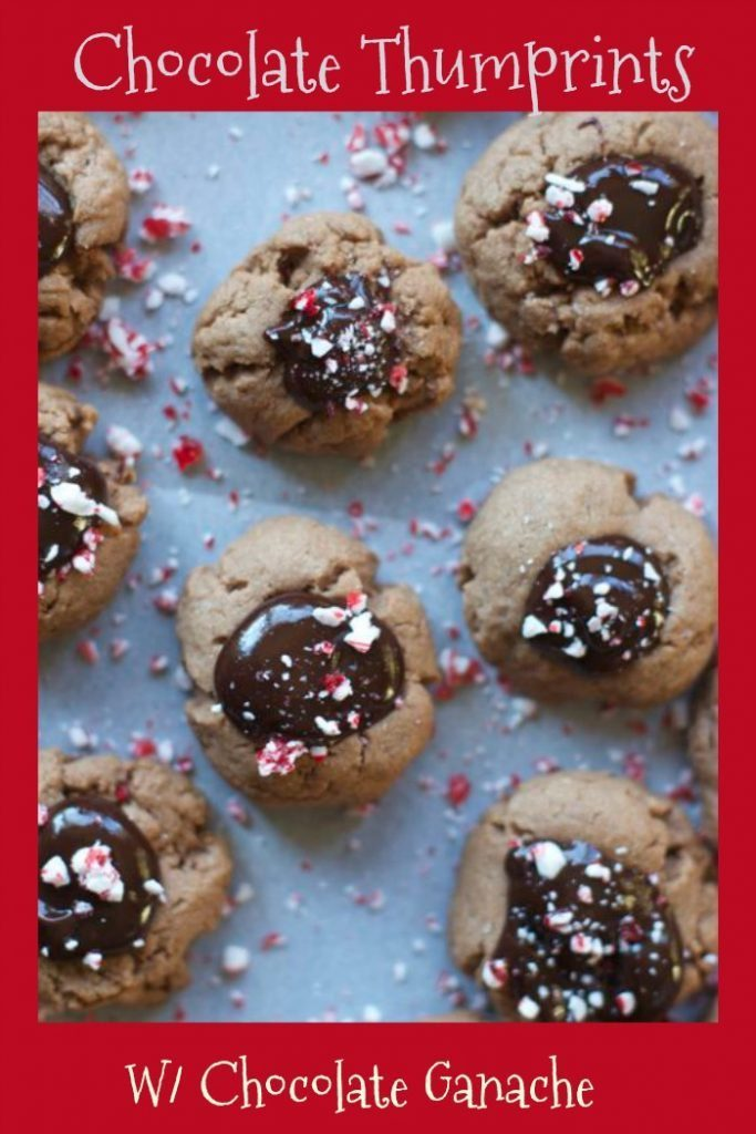 Chocolate Thumbprint Cookies with Chocolate GanacheChocolate Thumbprint Cookies with Chocolate Ganache