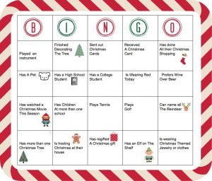 Holiday People Bingo
