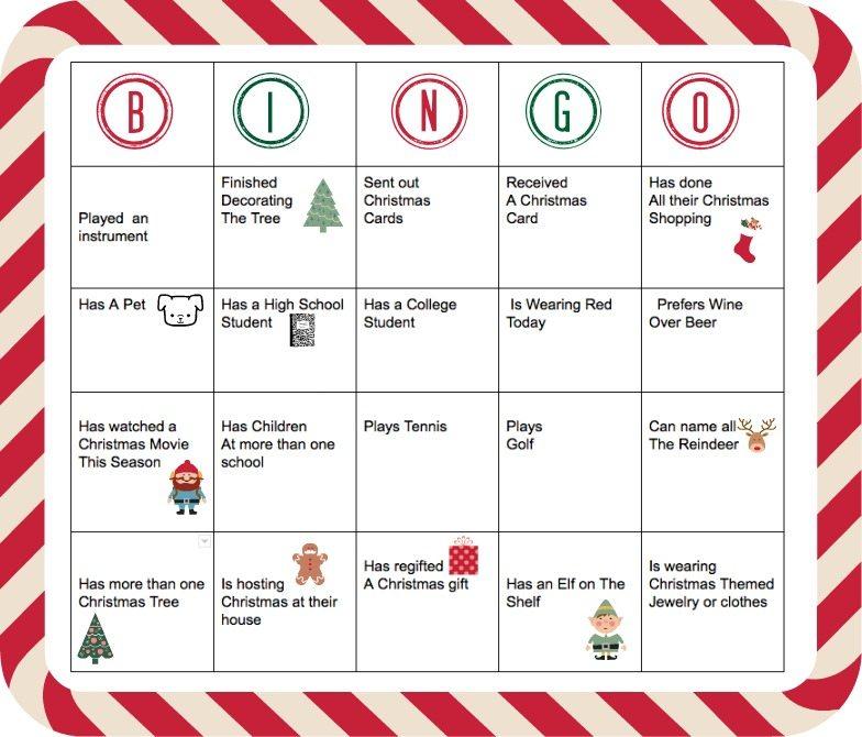 Holiday People Bingo