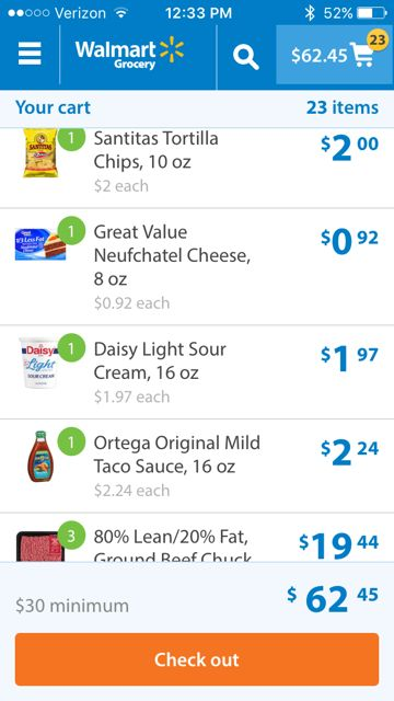 Walmart online grocery pick up