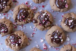 Chocolate Thumbprint Cookies with Chocolate GanacheChocolate Thumbprint Cookies with Chocolate Ganache