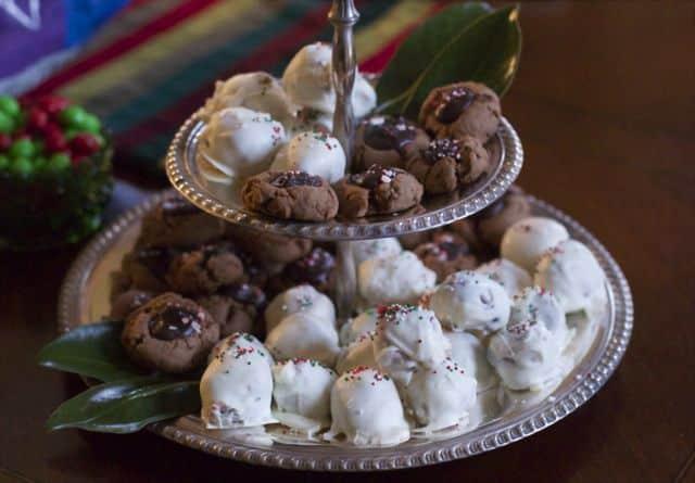 Chocolate Thumbprint Cookies with Chocolate Ganache