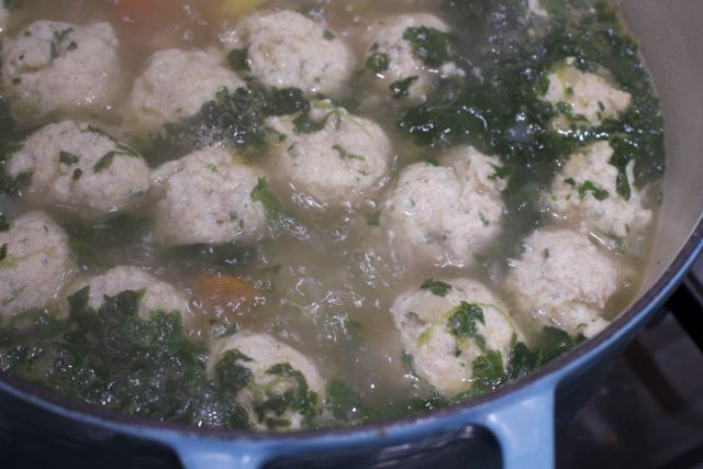 Grandma B's Italian Wedding Soup with Ricotta Meatballs