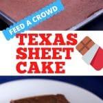 Texas sheet pan dessert for a crowd