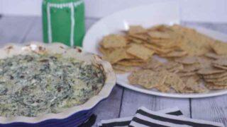 Warm Greek Spinach and Feta Gluten-Free Dip