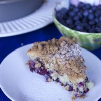 Lightened Up Blueberry Crumb Cake