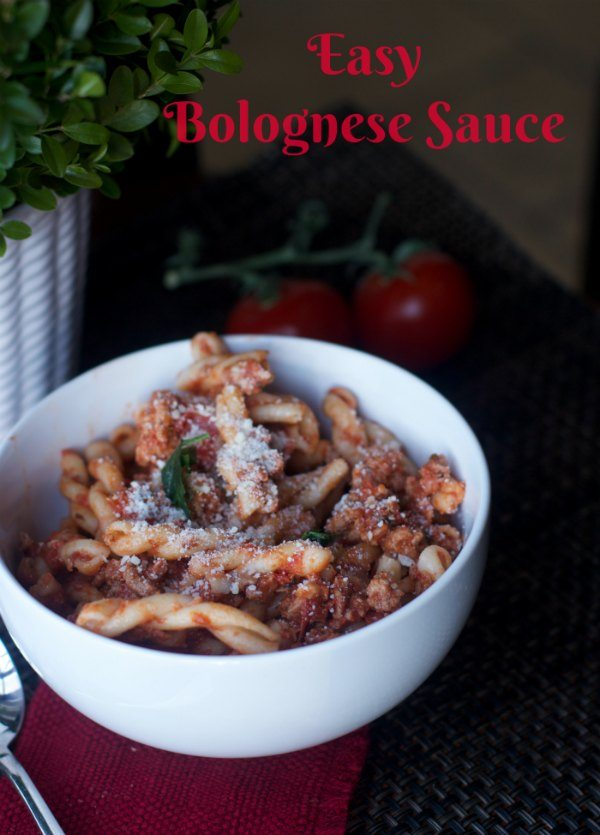easy bolognese sauce Recipe