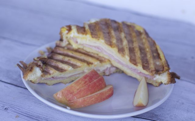 Ham & Cheese French Toast Panini Recipe
