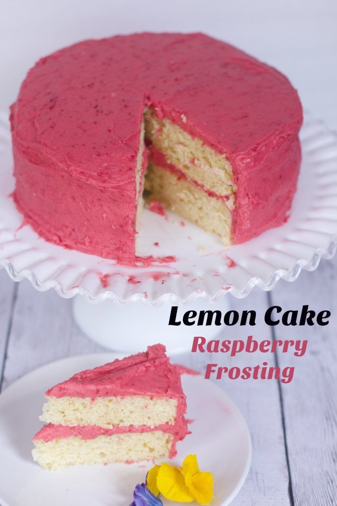 Spring Time Lemon Cake with Raspberry Frosting Recipe