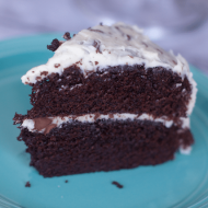 Rich Chocolate Cake with Chocolate Chip Frosting Recipe