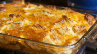 Deliciously Easy Egg and Cheese Overnight Breakfast Casserole with Bread