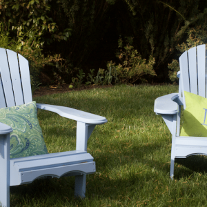 Spruce Up The Yard with DIY Adirondack Chairs and Double Sided Pillows