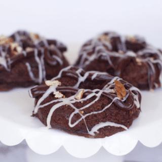 Triple Chocolate Coffee Cake Donuts