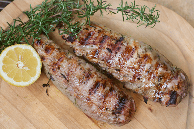 Best marinated Grilled Pork Tenderloin Make Ahead Meal Plan for Overnight House Guests
