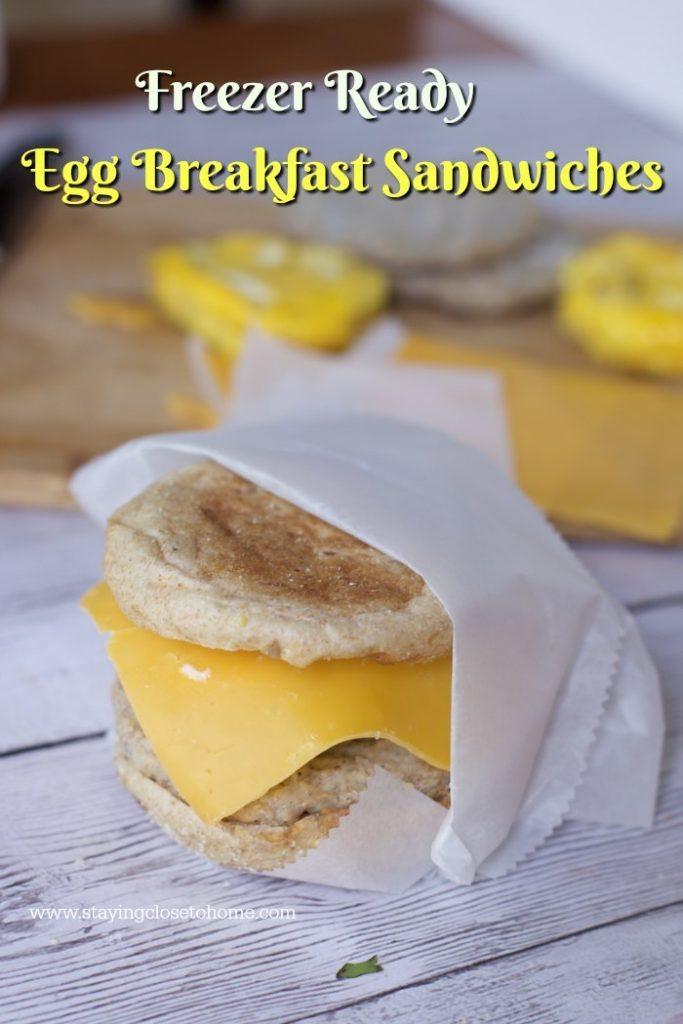 Freezer ready Homemade Egg Sandwiches