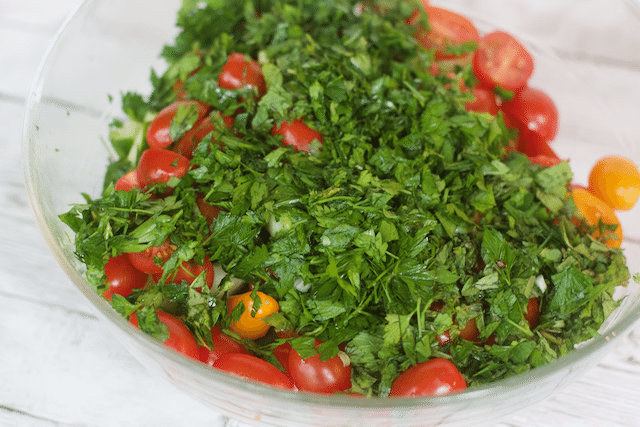 Greek Inspired Lunch Quinoa Tabbouleh Salad