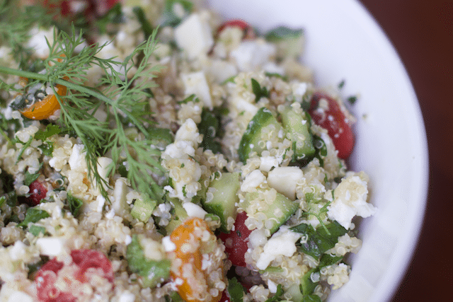 Greek Inspired Luncheon & Quinoa Tabbouleh Salad