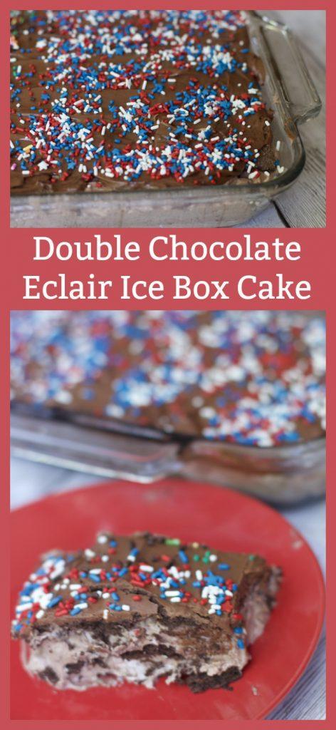 double chocolate eclair icebox cake