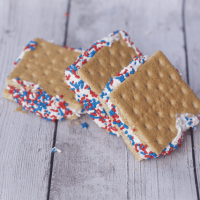 Frozen 4th  of July Dessert Idea: Frozen S'mores