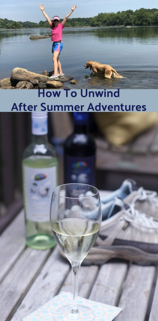 How to Unwind after Active Summer Adventures pin