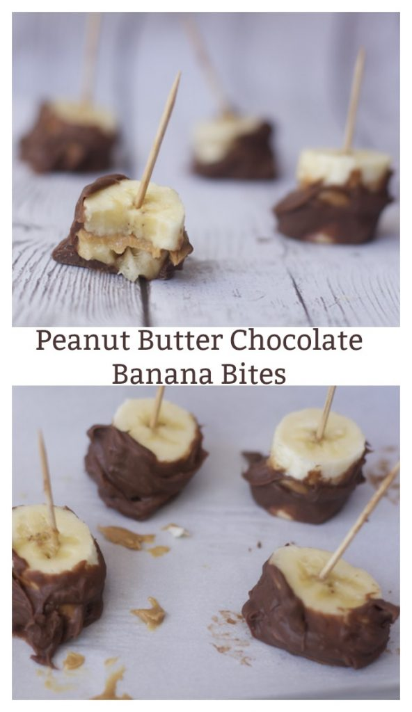 Peanut Butter Chocolate Banana Bites for Easy Summertime Snacks