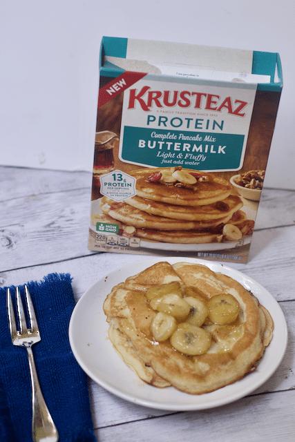 High Protein Breakfast Recipe- Chocolate Banana Pancakes