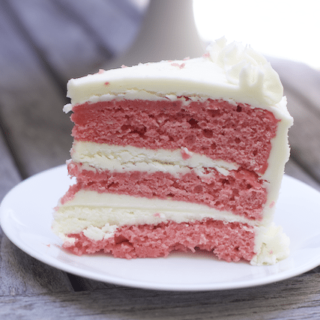 Heavenly Strawberry Cake with Cream Cheese Butter Cream Frosting