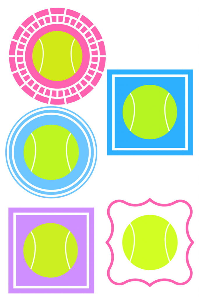 free tennis bag printable