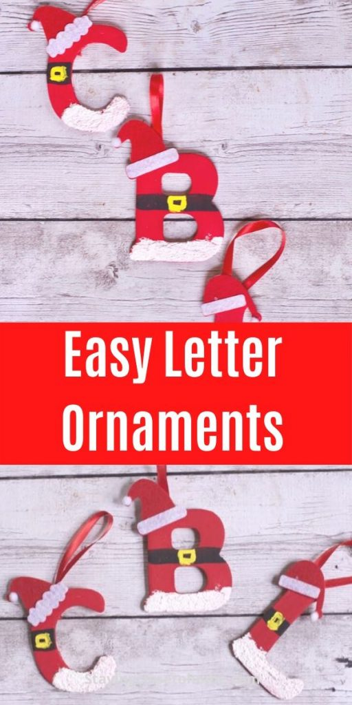 easy wood letter ornament