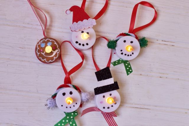 tea light christmas ornament making 1
