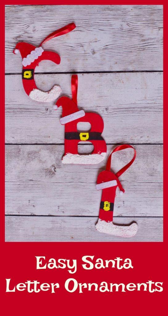 DIY Ornaments Santa letter ornamnets