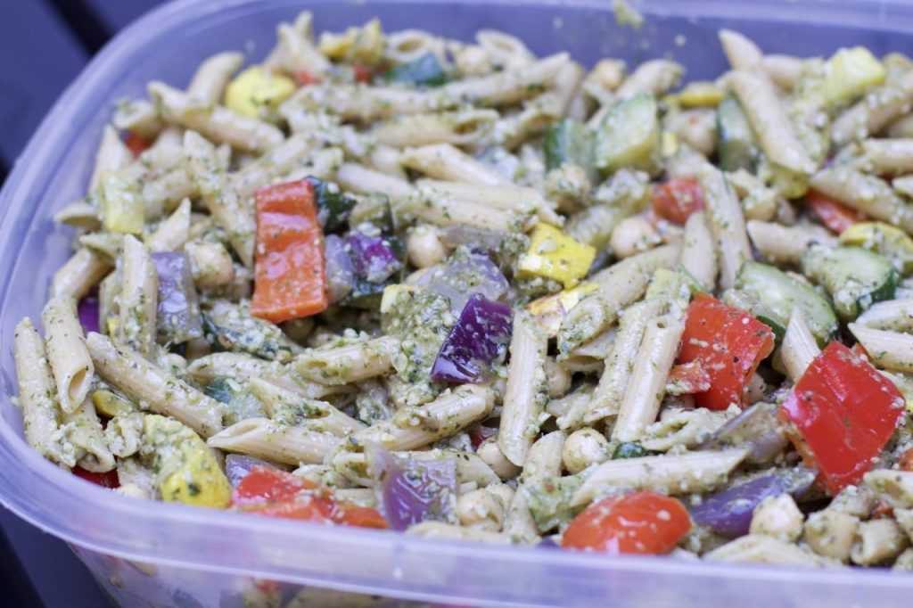 Roasted Vegetable Pesto Pasta Salad Recipe